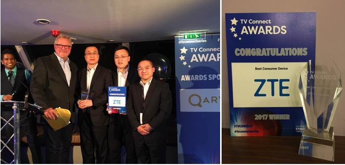 ZTE B860H STB Wins Best Consumer Device at TV Connect - ZTE